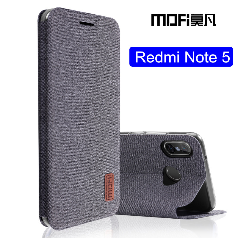 Für Xiaomi Redmi hinweis 5 fall Globale Version note5 flip abdeckung stoff schutzhülle silikon fall original MOFi Redmi note 5 pro fall