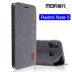 For Xiaomi Redmi note 5 case Global Version note5 flip cover fabric protective silicone case original MOFi Redmi note 5 pro case