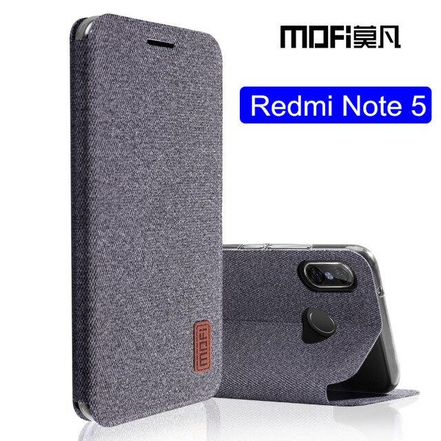 competitive price e7202 130a1 US $9.0 11% OFF For Xiaomi Redmi note 5 case Global Version note5 flip  cover fabric protective silicone case original MOFi Redmi note 5 pro  case-in ...