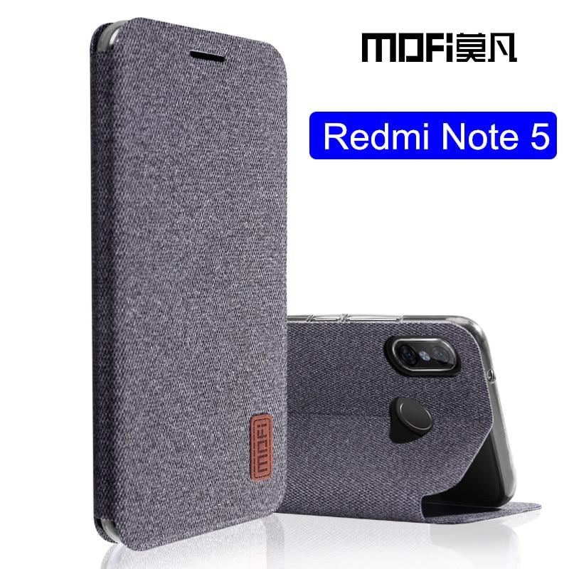 Xiaomi Redmi nota 5 caso Versione Globale note5 copertura di vibrazione tessuto custodia in silicone protettiva MOFi originale Redmi note 5 pro caso