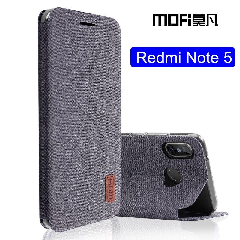 Xiaomi Redmi note 5 cas Mondial Version note5 flip couverture tissu de protection étui en silicone d'origine MOFi Redmi note 5 pro cas