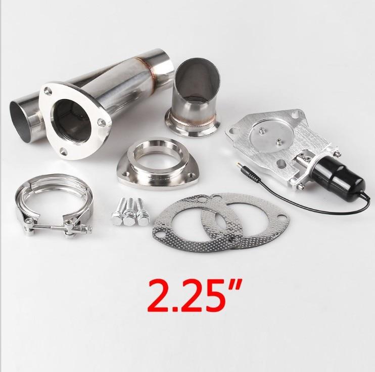 Auto modificatie universele staart keel modificatie 2.5, 3 inch aluminium elektrische controle uitlaatpijp met afstandsbediening - 3