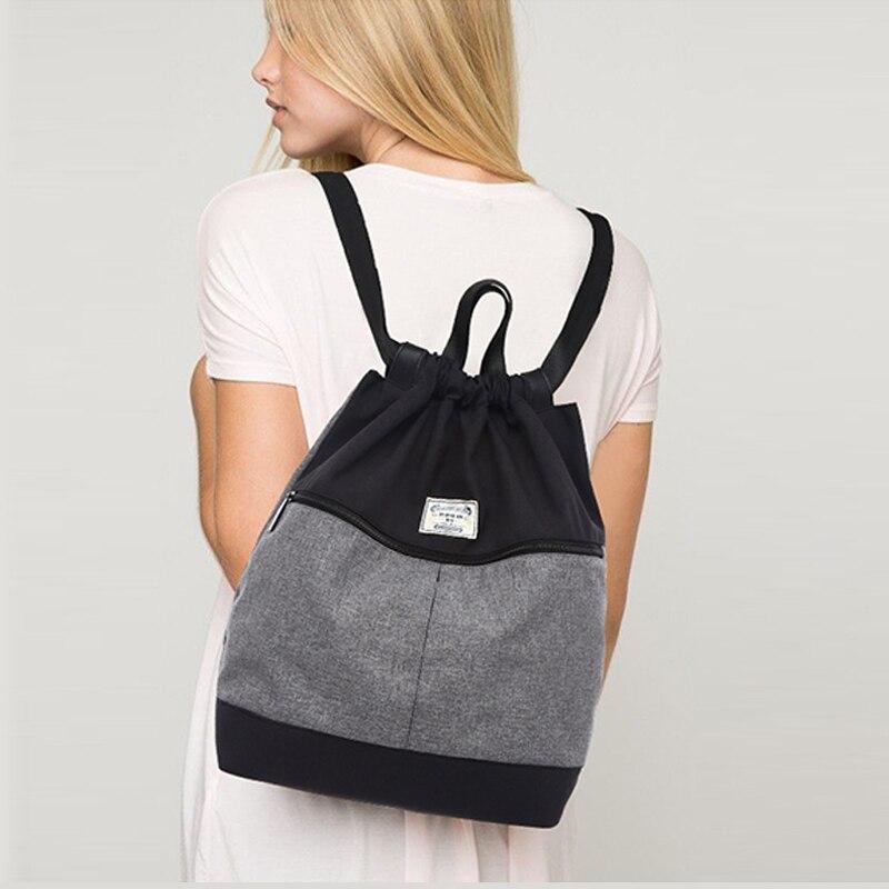 TUGUAN Brand casual font b women b font daily font b backpack b font men canvas