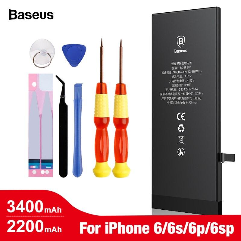 Batería Original del teléfono móvil Baseus para iPhone 6 6s Plus Bateria interna de alta capacidad para iPhone 6plus