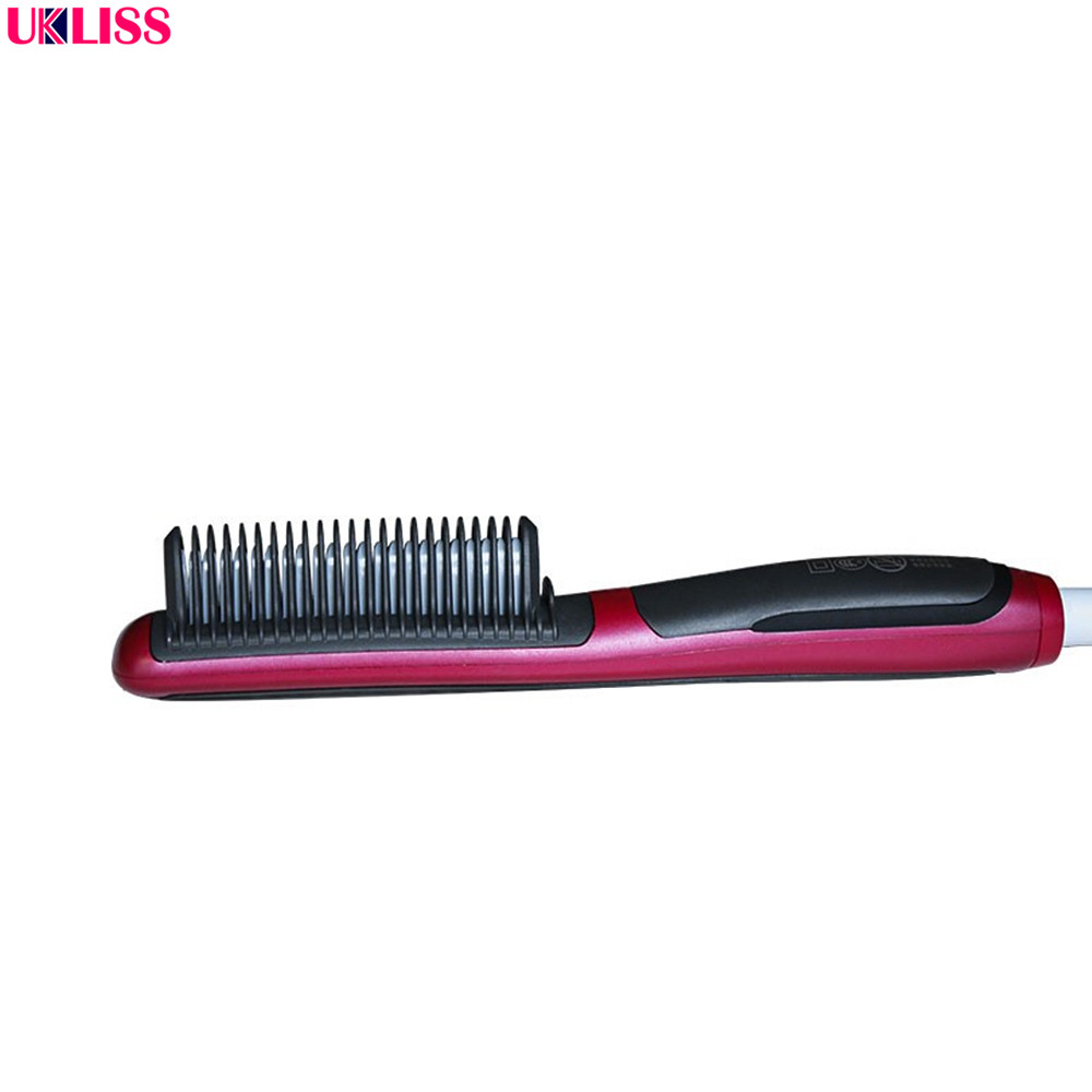 цена на Professional Hair Straightener Irons Comb Electric Straight Hair Comb Straightener Iron Brush US UK EU AU Plug