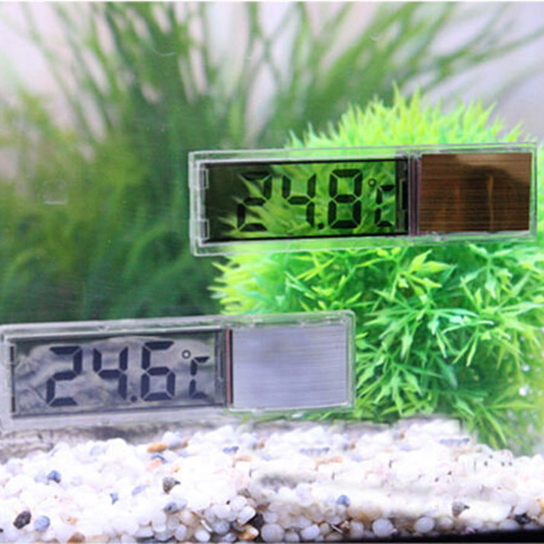 HOt Multi-Function Lcd 3D Crystal Digital Electronic Temperature Measurement Fish Tank Aquarium Thermometer Random Color