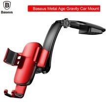 BASEUS Марка металла возраст держатель gravity для автомобиля держатель мобильного телефона стенд на автомобиль центральной консоли кронштейн для iPhone samsung универсальный