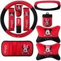 Для Mickey Mouse pattern подголовник автомобиля колеса пояса козырек передач набор CD ручного тормоза интерьера продукты 10 шт./компл.
