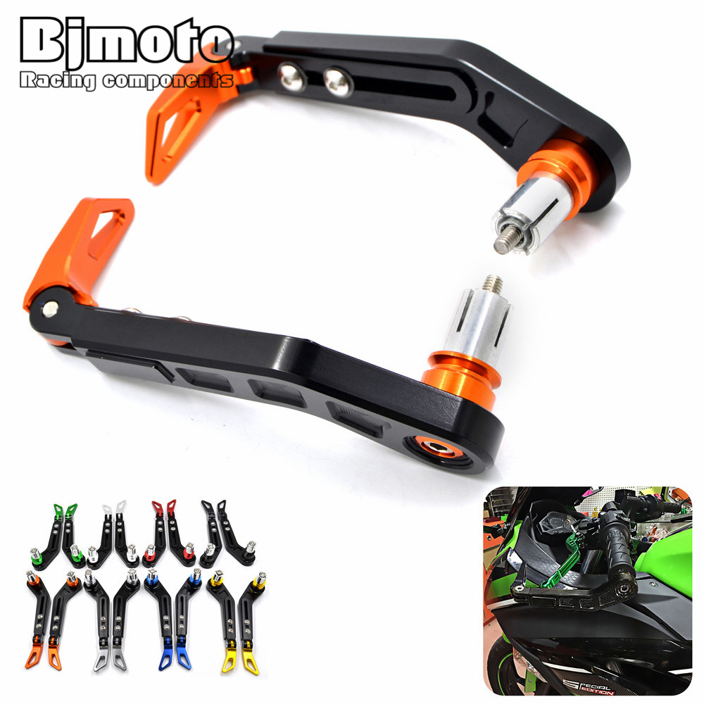 Aluminum Universal 7/8 Inches 22mm CNC Handlebar Protector Brake Clutch Protect Motorcycle Lever Guard Proguard For KTM Duke 125 motorcycle cnc billet aluminum handlebar protection 7 8 22mm brake clutch lever protect guard for ktm 125 200 390 690 990 duke