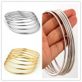 High quality Silver Or  Gold Plate Jewelry 316L Stainless Steel Luxury Brand Stylish Round Womens 5pcs/Set Bangle Bracelet