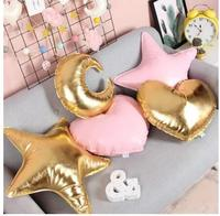Girl heart pillow local gold stars pillow decoration love clouds pillow sofa creative pillow cushion Nordic