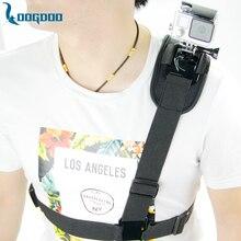 Loogdoo для GoPro Аксессуары плечевой ремень Гора Грудь проводов Штатив для Go Pro Hero 5 4S 3 + Xiaomi Yi SJ Действие Камера TP199