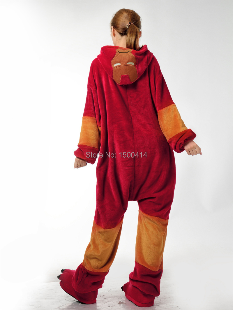 Unisex Adulto Cosplay Traje de Iron Man Onesie Pijama para Halloween - Disfraces - foto 4
