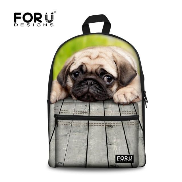 Cute Dog Print Girls School Bags For Teenagers Kids Backpack Canvas Schoolbag Students Book Bag Youth Women Shoulder Bag Mochila