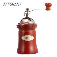 Manuel Ahşap Kahve Değirmeni El Taşlama Makinesi Retro Tarzı Tasarım Kahve Fasulye Gıda Biber Değirmenleri Vintage Maker Mutfak ...