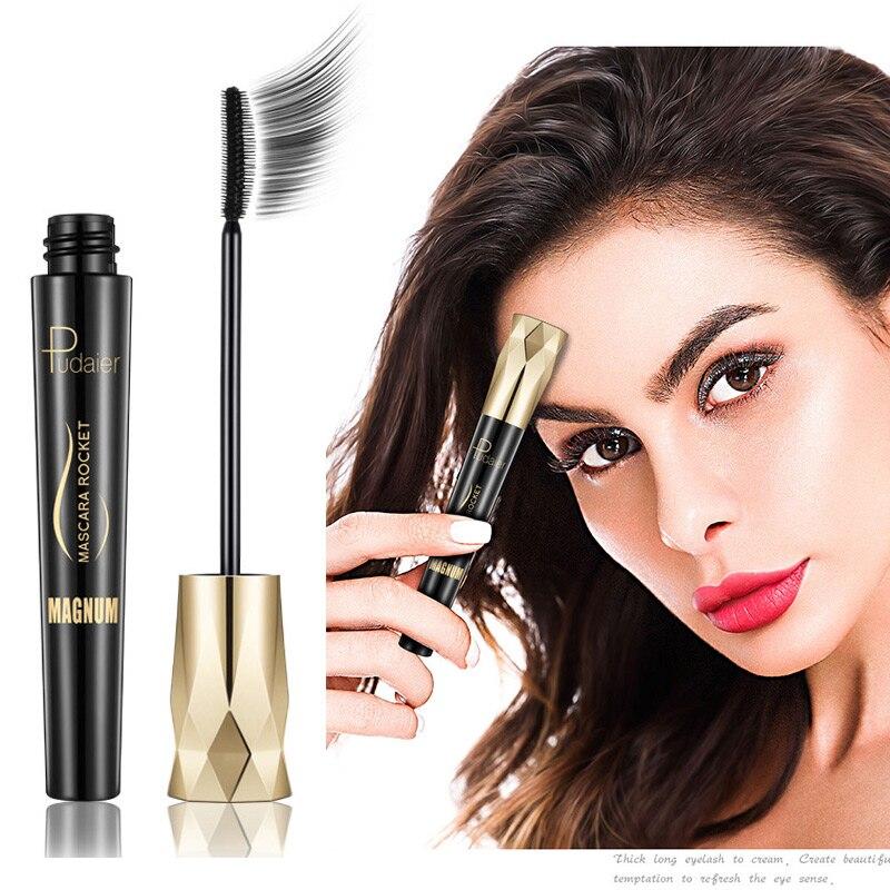 fcda1b330f1 Pudaier Waterproof mascara for eyelashes 4d silk fiber eyelash mascara  lengthening Long lash volume for eyes Makeup cosmetics ~ Perfect Sale July  2019