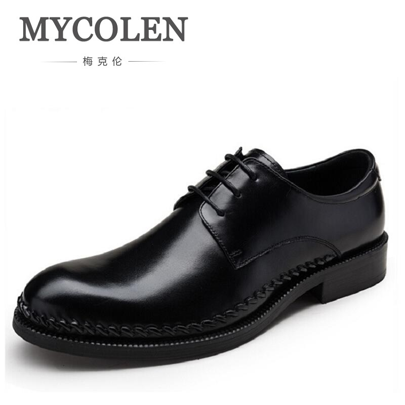 MYCOLEN New Classic Men Dress Shoes Casual Business Shoes For Men High Quality Men Formal Shoes Sapato Social Masculino Couro men party shoes oxfords 2015 hot men s genuine leather shoes brand sapato masculino couro social round toe palladium shoes 38 46