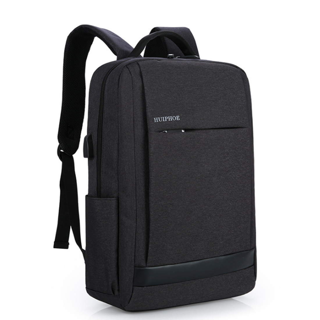 ARESLAND  Oxford Cloth Men Male Laptop Backpack Big Capacity Casual Travel Business Bag With USB Charging Port - Black yeso brand 2017 waterproof oxford business backpack men the knapsack travel school backpacks women professional big capacity