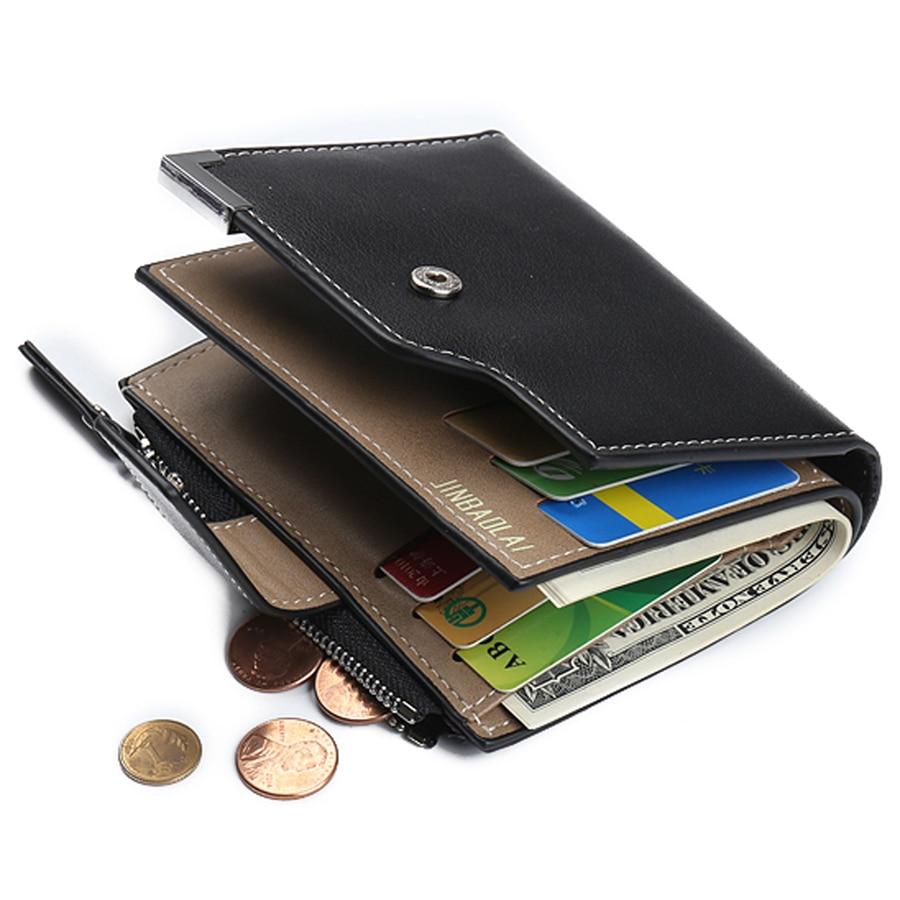 New Small Luxury Brand Coin Pocket Male Men Wallet Purse Clutch Handy Portfolio Portomonee Walet Bag Cuzdan Money Fashion Vallet