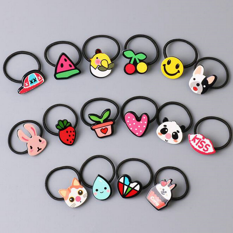 Accessories Mother & Kids Flight Tracker 2pcs Mini Elastic Hair Bands Girls Graffiti Cartoon Red Lip Ponytail Holder Rope Rubber Bands Hair Ring For 1-3 Years Kids Q6 Activating Blood Circulation And Strengthening Sinews And Bones