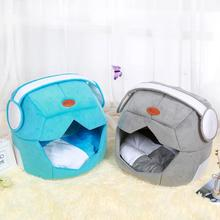Space Helmet Dog Bed Foldable Pet House for Small Large Dogs Unique Design Double Use Soft Cat Mat Kennel New