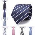 2017 новый стиль Новая Мода Аксессуары Галстук Высокого Качества 8 см мужские галстуки для костюм бизнес свадебные Повседневная Черный красный Синий