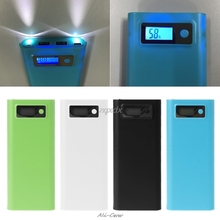 Dual USB 8x 18650 Battery DIY Holder LCD Display Power Bank Case Box For iphone
