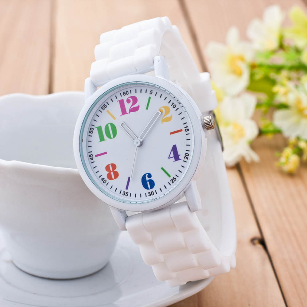 Fashion Quartz Watches For Women Luxury White Silicone Bracelet Watches Ladies Dress Clock Watches Relojes Mujer Gift Woman 328