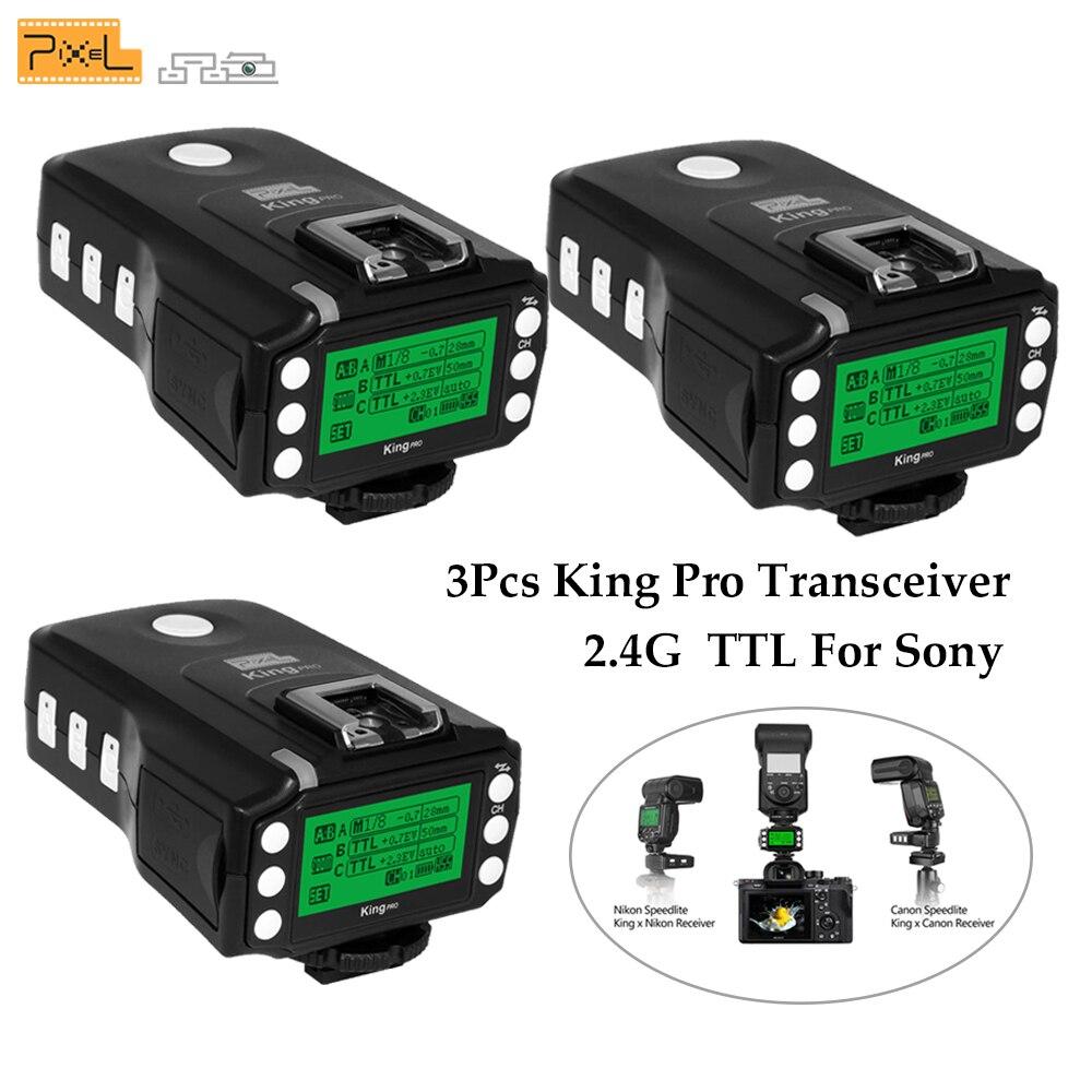 Pixel Roi Pro Sans Fil Contrôle 2.4 ghz TTL HSS Déclencheur Flash Émetteur-Récepteur Trans mi tter pour Sony mi Caméra De Chaussures vs Godox X1S X1T-S