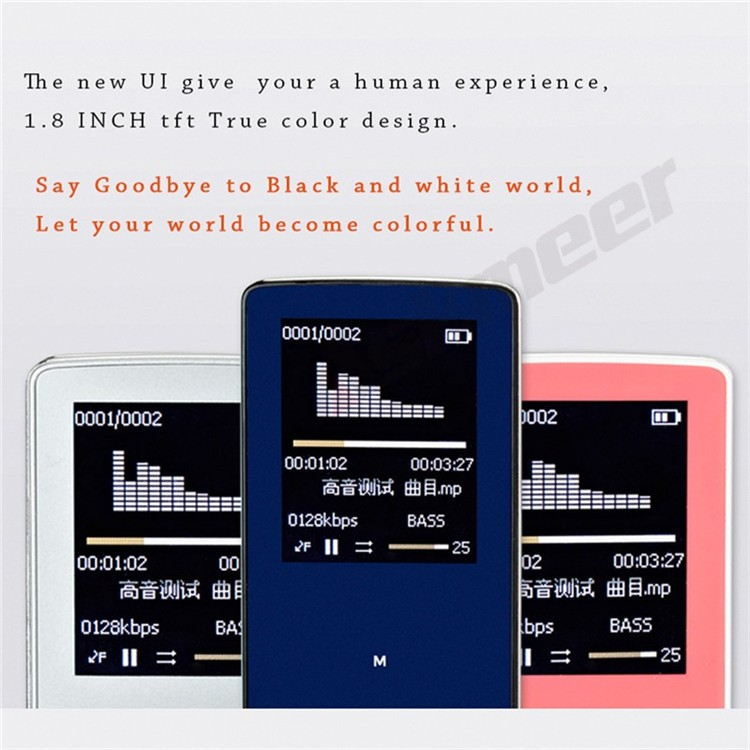ONN W6 Rechargeable 8GB Bluetooth MP3 Player Mini Sport Mp3 HIFI Lossless Music Media Audio Player with 1.8 TFT Screen Fm Radio (4)