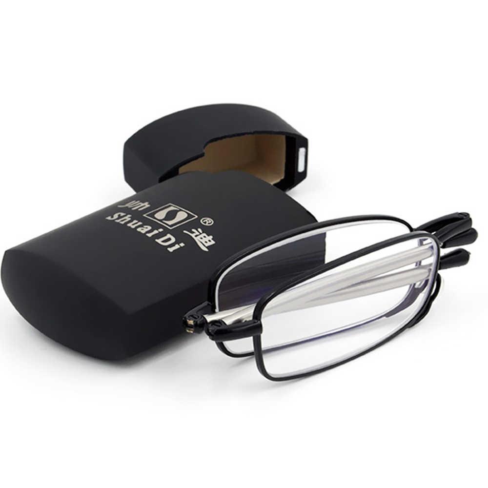[SHUAIDI радио антенны очки] Складная рамка растягивающиеся ноги новый стиль Жесткий сплав очки для чтения + 1 + 1,5 + 2 + 2,5 + 3 + 3,5 + 4