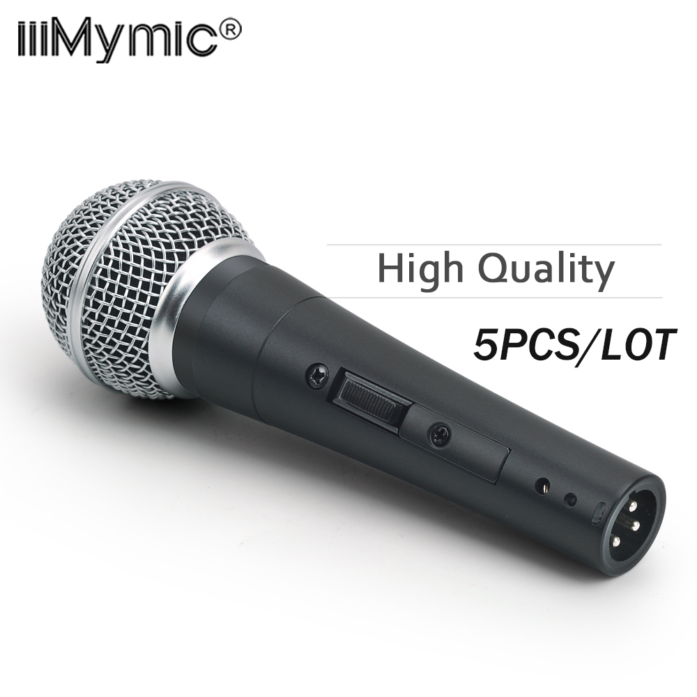 5PCS LOT High Quality Version S 58SK Professional Dynamic Handheld Karaoke 58 SK 58S Wire Microphone