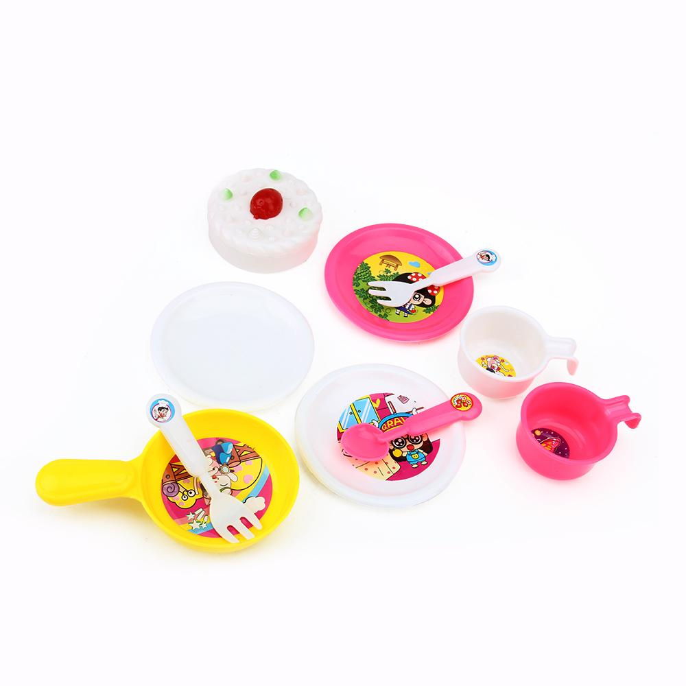 14x Kid Play House Toys Kitchen Utensils Pots Pans Cooking Food ...