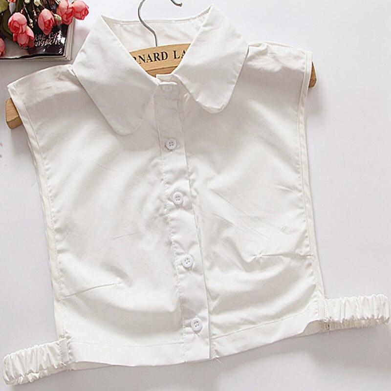 New Design shirt Women White Fake Collars Beading Chiffon Blouse shirt accessory detachable collar Sweater Fake Collars