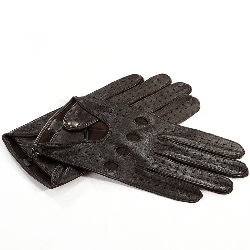 High Quality Men 39 S Genuine Leather Gloves Autumn And Winter Thin Sheepskin Gloves Fashion Hollow No Lining HC 2520 5 in Men 39 s Gloves from Apparel Accessories
