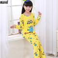 4-12Y Children Minions Pajamas Set Unisex Kids Fashion Cartoon Sleepwear Boys Spongebob Pijamas Girls Princess Nightgown