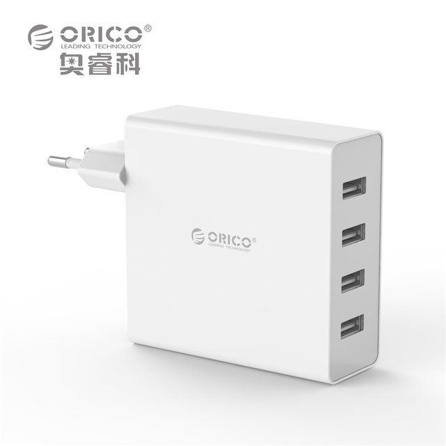 ORICO DCW-4U 4-Ports Wall USB Phone Charger 5V2.4A*4 6A30W Total Output  Smart control Chip - Black/White