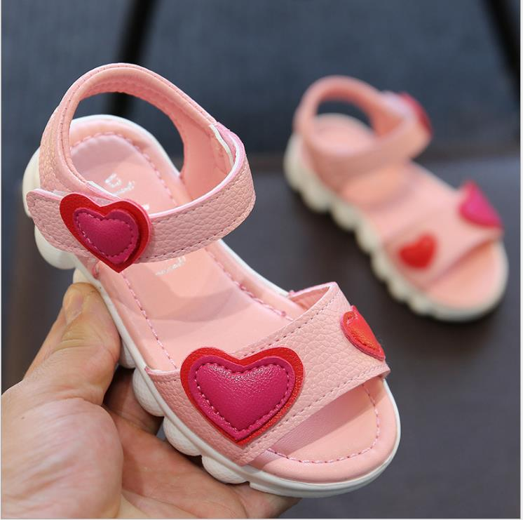 NEW Sandals Girls White Children Summer Shoes Kids Sandals For Girls  Leather Flowers Princess Shoes Girls Sandals