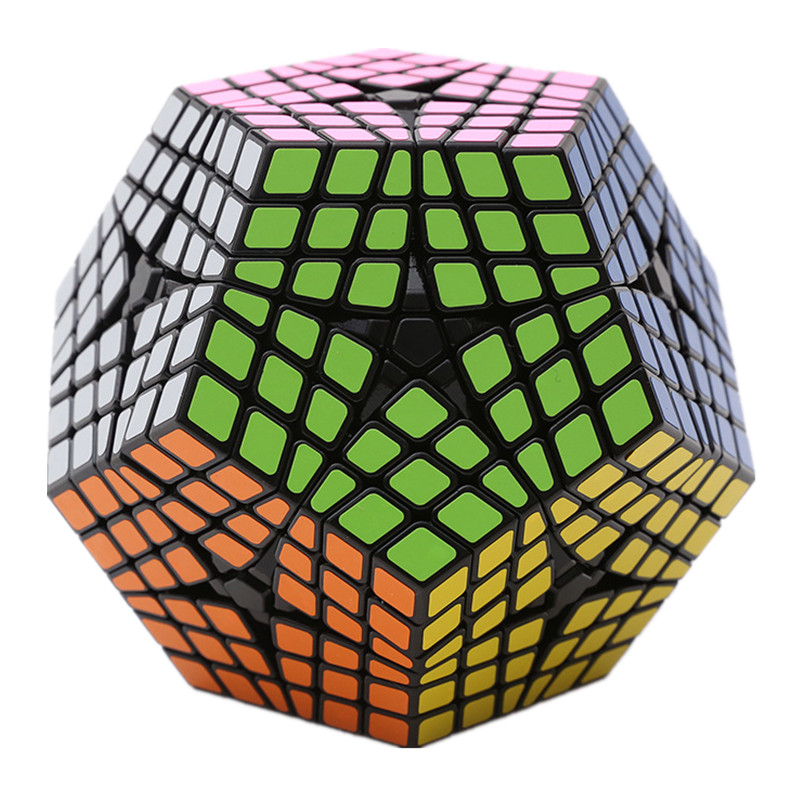 Brand New Shengshou 6x6x6 Megaminx Magic Cube Professional Plastic Puzzle Speed Cubes Educational Toys Special Toys for Kids 83mm black and white grid curve7x7x7 speed magic cubes puzzle game educational toys for kids children baby