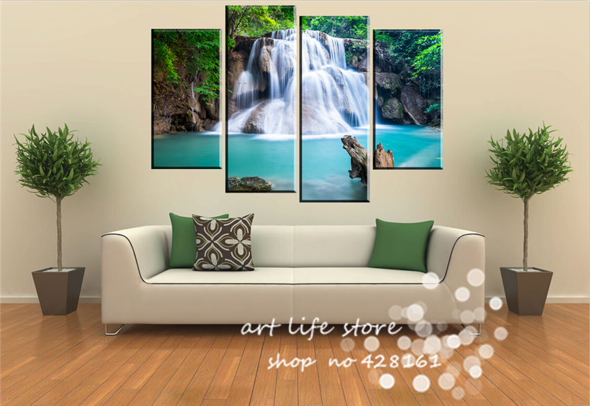 Home Decorative Abstract Classical Picture Hanging Waterfall Strong In Eyes Canvas Paints Wall Pictures Printed On