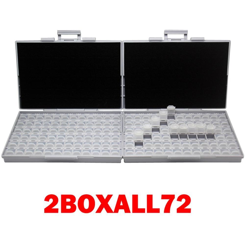 AideTek 2 корпуса поверхностного монтажа резистор конденсатор Электроника хранения ящики и органайзеры 0805 0603 пластиковые инструменты коробка 2 коробки - Цвет: 2BOXALL72