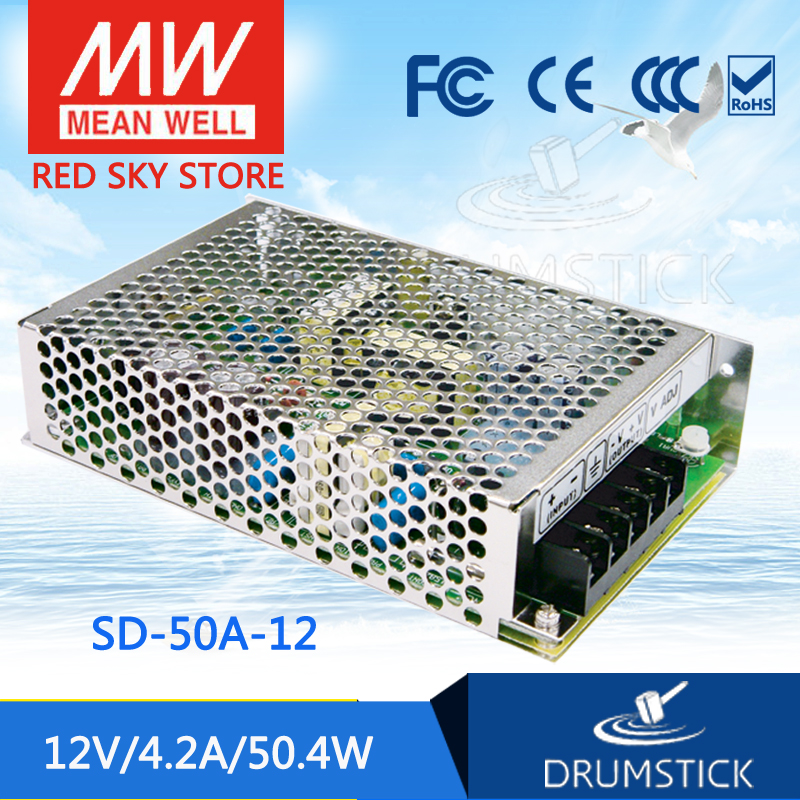 цена на Genuine MEAN WELL original SD-50A-12 12V 4.2A meanwell SD-50 12V 50.4W Single Output DC-DC Converter