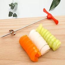 С Ручным роликом спиральный слайсер редис инструменты для приготовления картофеля спиральная овощерезка кухонные принадлежности, фрукты резьбы инструменты