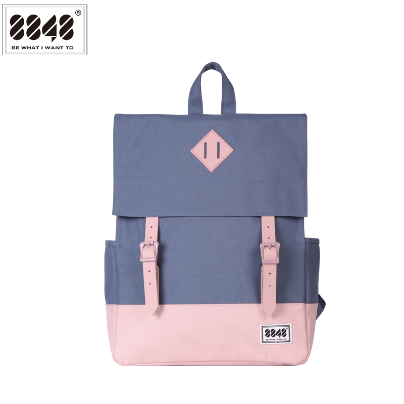 Travel Backpack For Women 8848 Famous Brand Backpacking School College Student Stylish Fashion Shoulder Bag Hasp 173-002-015 stylish golden hollow rounded rectangle hasp bracelet for women