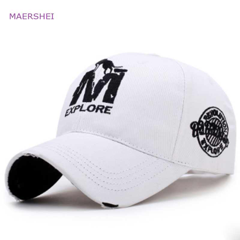 MAERSHEI Fashion couple embroidered baseball cap men's outdoor sports hat ladies sunscreen visor cap(China)