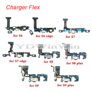 Image 1 - 1pcs USB Charger Charging Dock Port Connector Flex Cable For Samsung S6 S7 edge S8 S9 plus G920 G925F G930F G935F G950 G955F