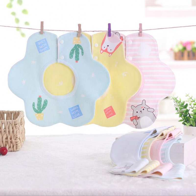 2018 New Baby Bibs Babador Bandana Cotton Bib of Gauze Mom Supplies Round 360 Degrees of Rotation Waterproof Burp Cloths