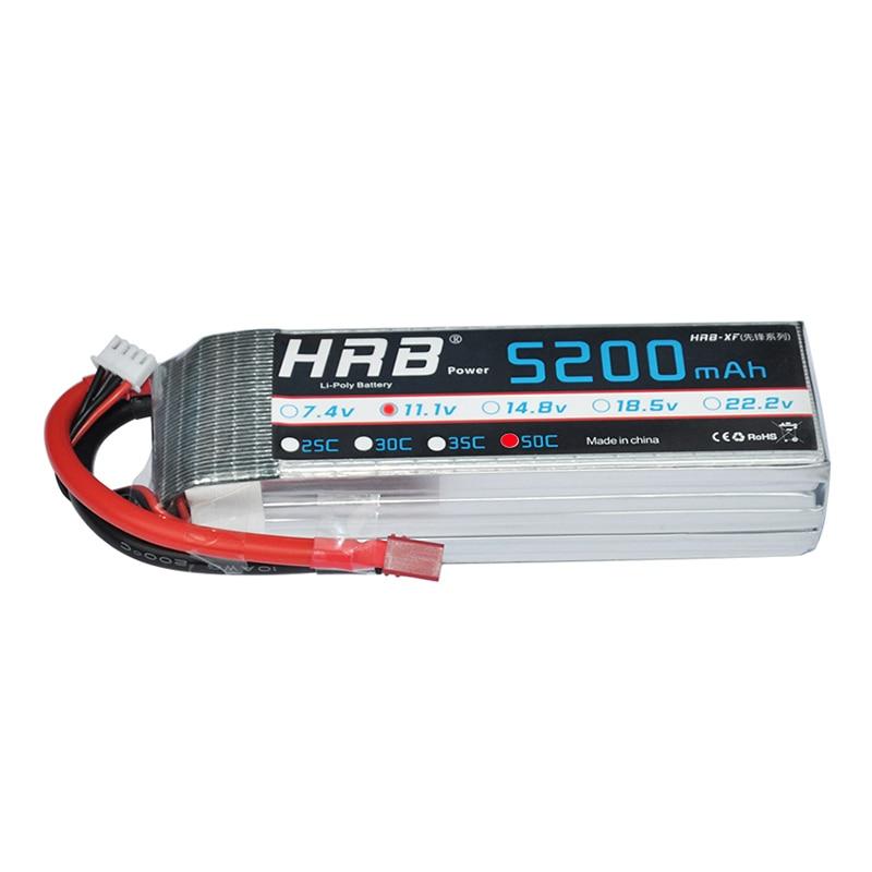 2 шт. HRB 3S 5200 мАч Lipo батарея 11,1 В 50C XT60 XT90 TRX EC5 разъемы T Deans для RC лодки квадрокоптера внедорожные Автомобили Запчасти DIY