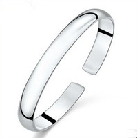 2015 New Arrival High Quality Classic Design Adjustable 925 Sterling Silver Unisex Bangle Jewelry Promotion