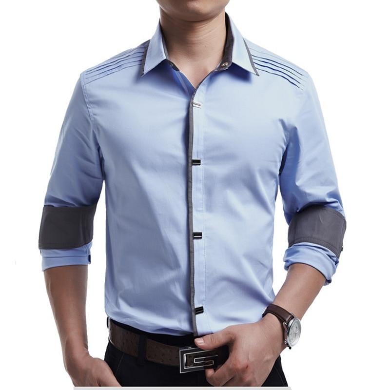 New Spring Autumn Cotton Dress Shirts High Quality Mens Casual Shirt,casual Men Plus Sizexxxl Slim Fit Social Shirts #2